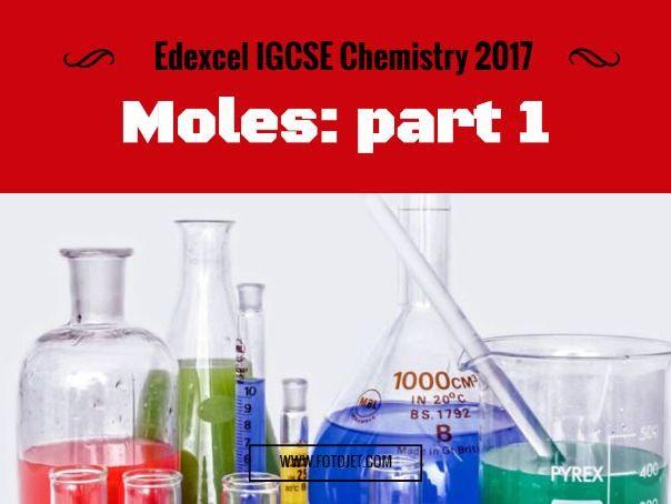 Edexcel IGCSE Chemistry 2017 Moles