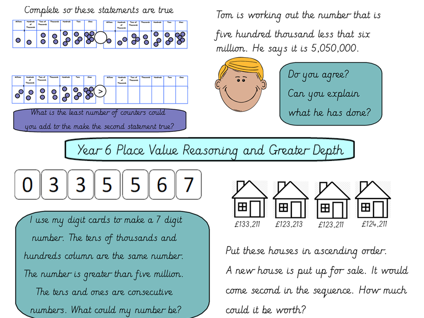 Year 6 Reasoning Mastery With Greater Depth Tasks Place Value