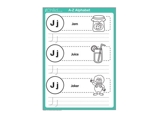 Write the letter 'J'