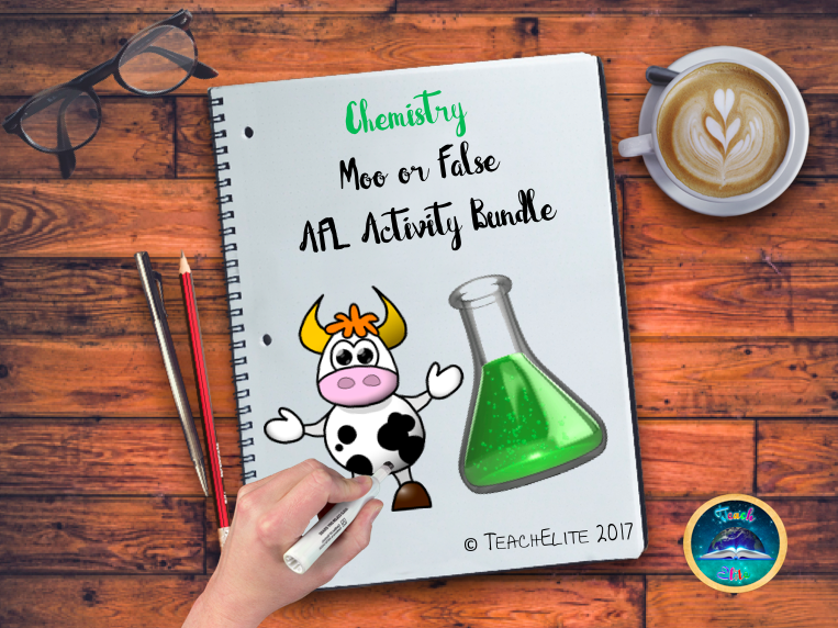 Chemistry- Moo or False - AFL activity bundle