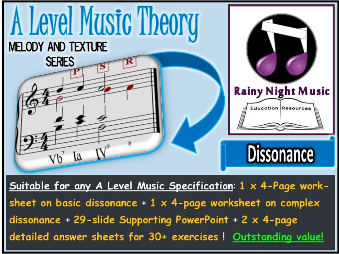 A LEVEL MUSIC MELODY and DISSONANCE