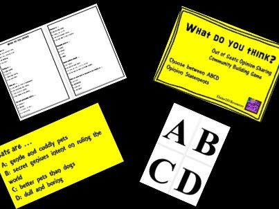 Back to School: Back to School Ice Breakers Opinion Questions Whole Class Activity