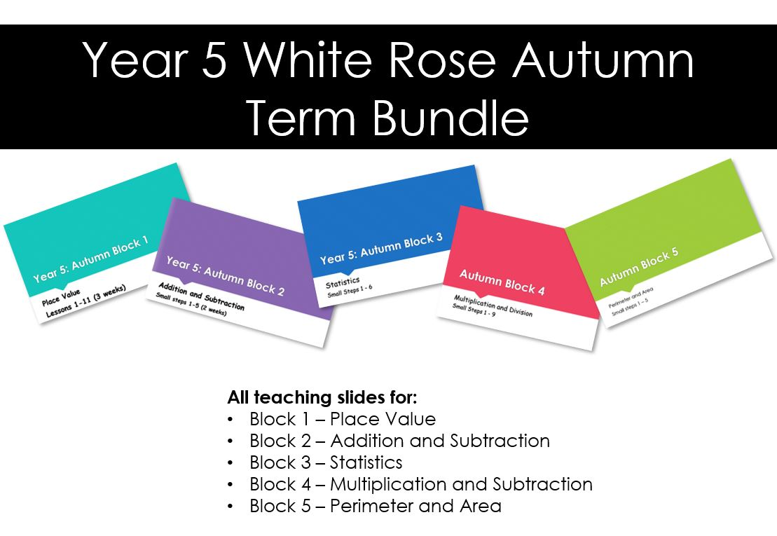 Year 5 White Rose  Maths Autumn  Bundle