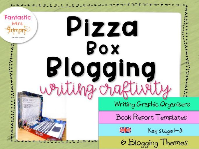 Pizza Box Blogging: ( UK)  writing graphic organisers and book report templates