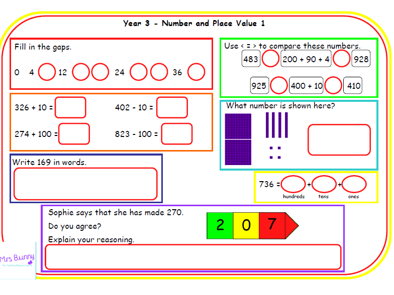 Y3 number and place value morning mats