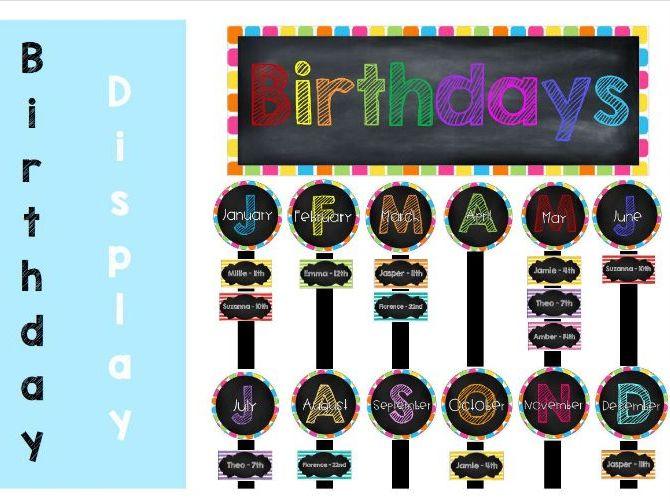 Birthday Display Pack