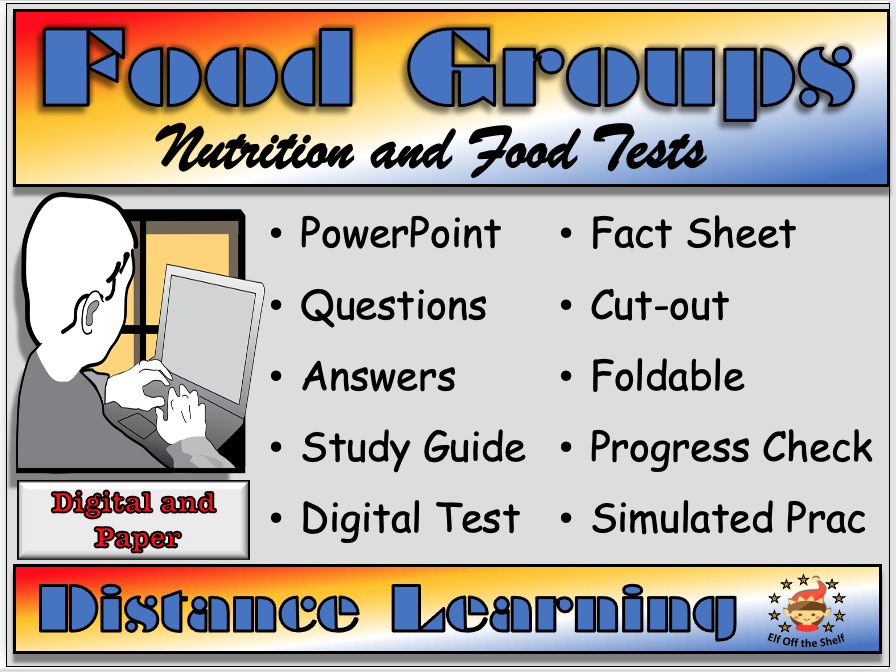 Food Groups, Nutrition and Food Tests - Distance Learning and Homeschool KS3