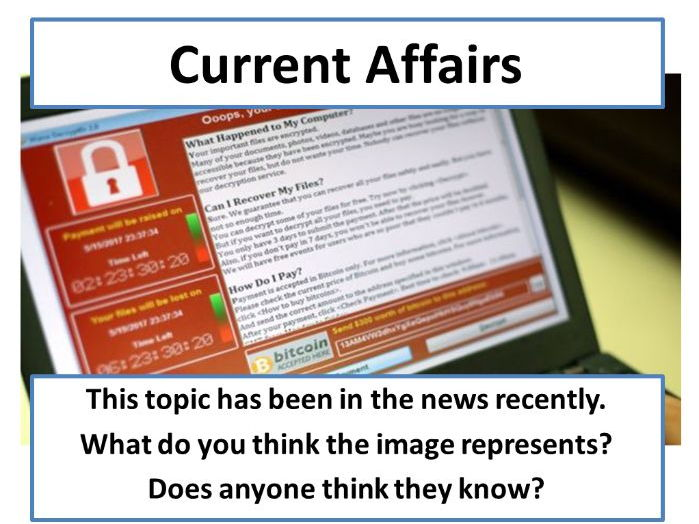 NHS Cyber-Attack - Current Affairs Form Time Activity