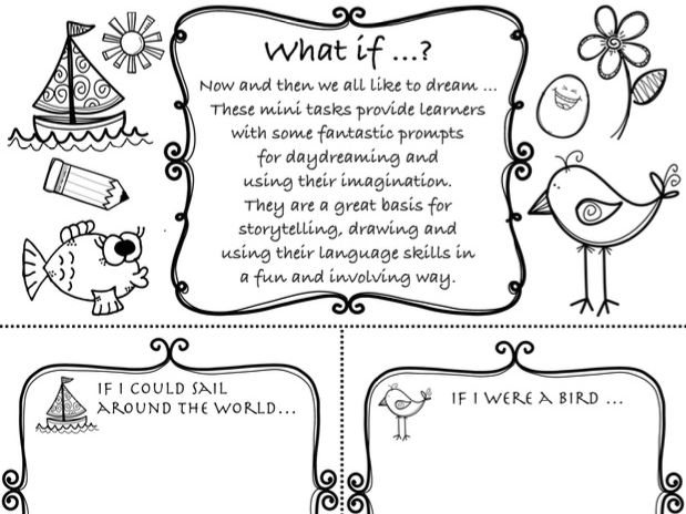 What if ..? If questions - day dreaming as a basis for ESL speaking + writing activities, worksheet