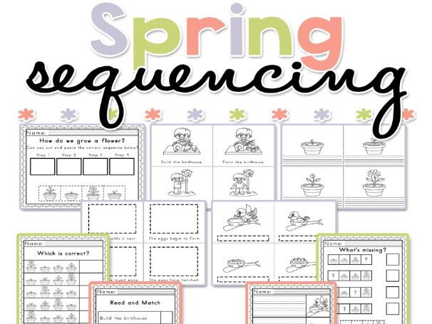Spring Sequencing Worksheets