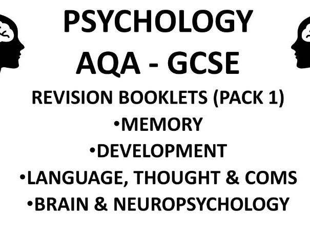 AQA Psychology 2019-20 Revision Packs Part 1