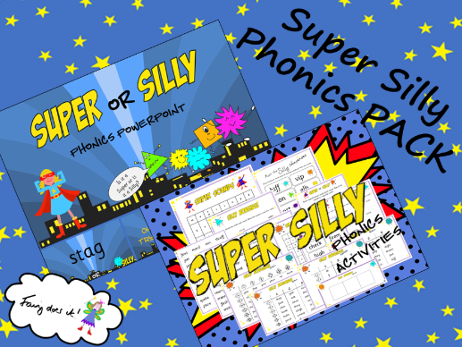 Super Silly Words Phonics PACK