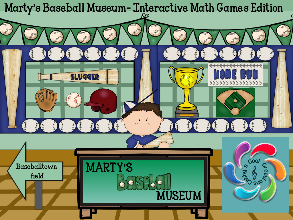 Marty's Baseball Museum- Interactive Math Games