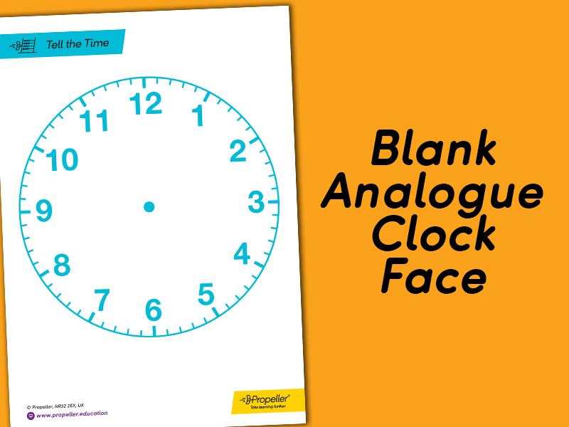 Analogue Clock Face | KS1 & KS2 TIME
