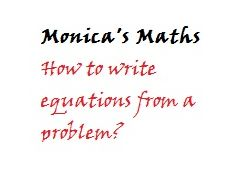 Self Assessment_Writing Equations