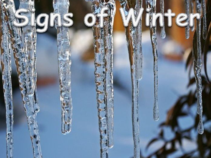 EY/KS1 Signs of Winter Powerpoint lesson of 29 slides.