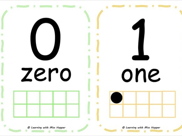 Numbers to 20 display cards