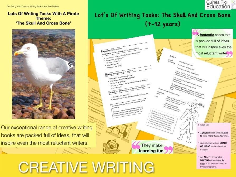 Lots Of Writing Tasks With A Pirate Theme 'The Skull And Cross Bone' (7-11)