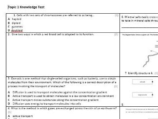 Edexcel CB4 Biology Knowledge Assessment