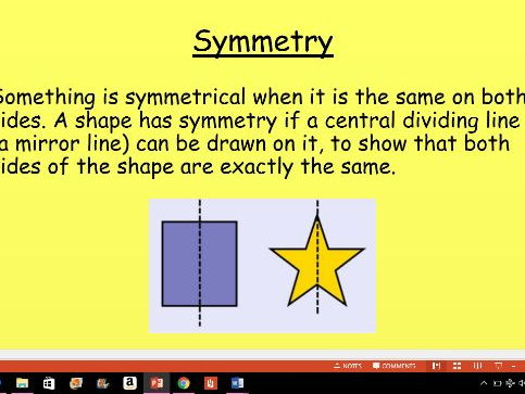 Year 1 teaching symmetry