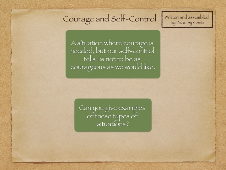 Ethics or Citizenship Lesson Theme Courage