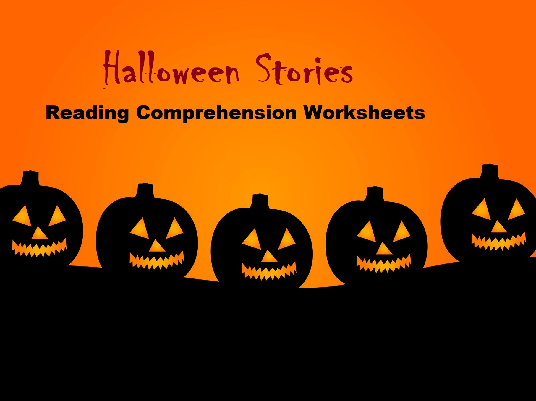 Halloween Stories - Reading Comprehension Worksheets (SAVE 65%)