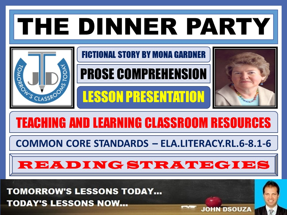 THE DINNER PARTY - STORY COMPREHENSION - LESSON PRESENTATION