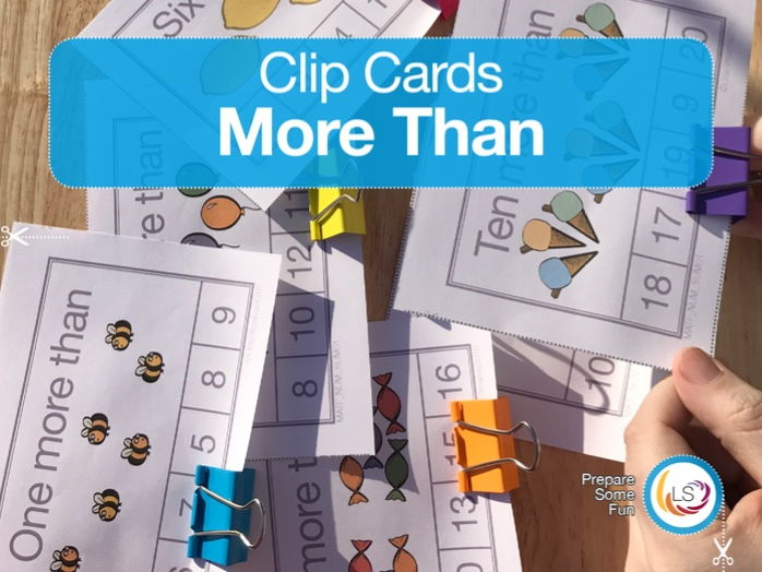 'More Than' | Clip Cards