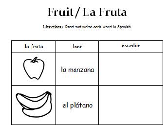 Spanish Fruit - La Fruta