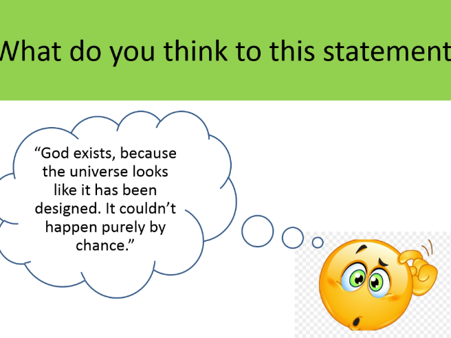 "KS3 lessons on ""Does a God exist?"""