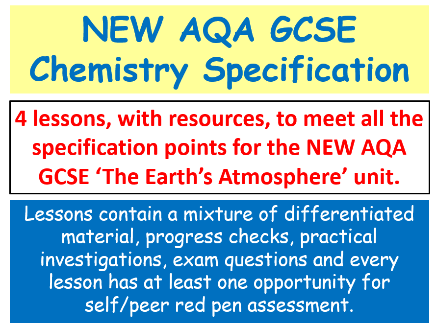 NEW AQA GCSE Chemistry - The Earth's Atmosphere