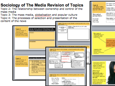 Sociology of The Media Revision Topics 2 3 and 4. A-Level Revision Lessons
