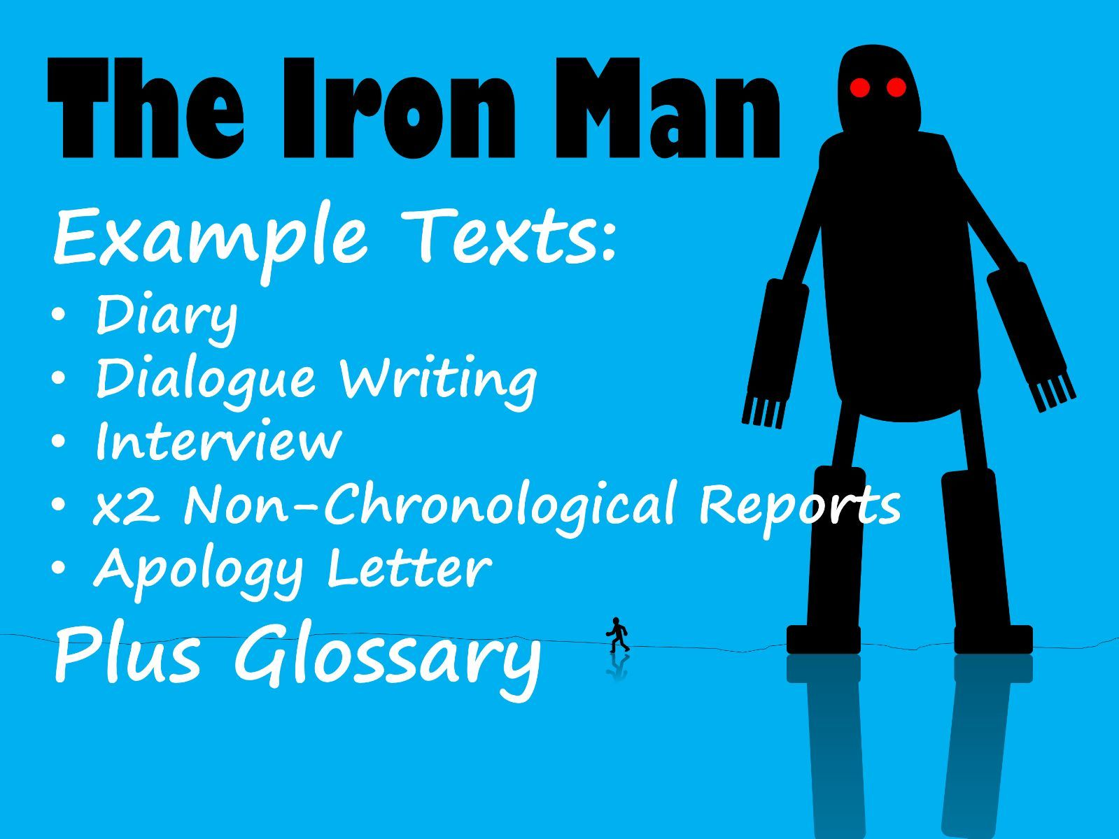 Iron Man 6 Example Texts & Glossary BUNDLE with Feature Identification & Answers