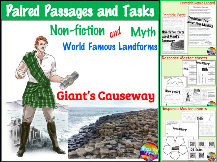 Reading Comprehension Paired Texts: Giant's Causeway Myth and Informational