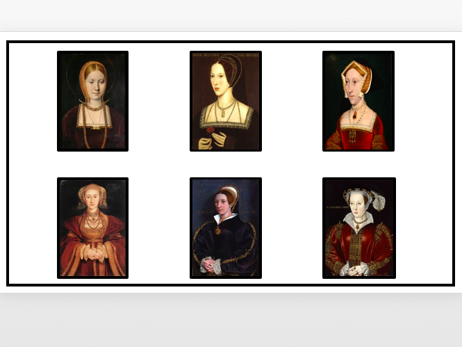 Henry VIII's Six Wives Matching Activity