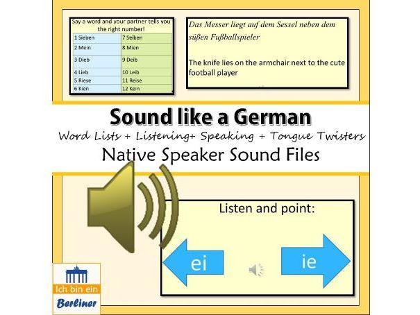 German pronunciation with sound - Deutsche Aussprache