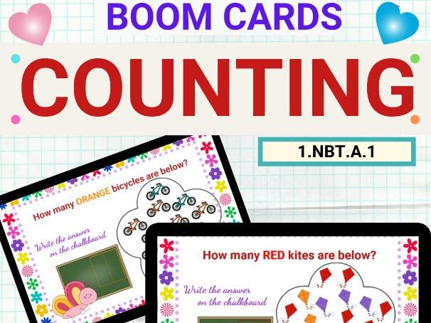 Counting Numbers Up to 20 Boom Card