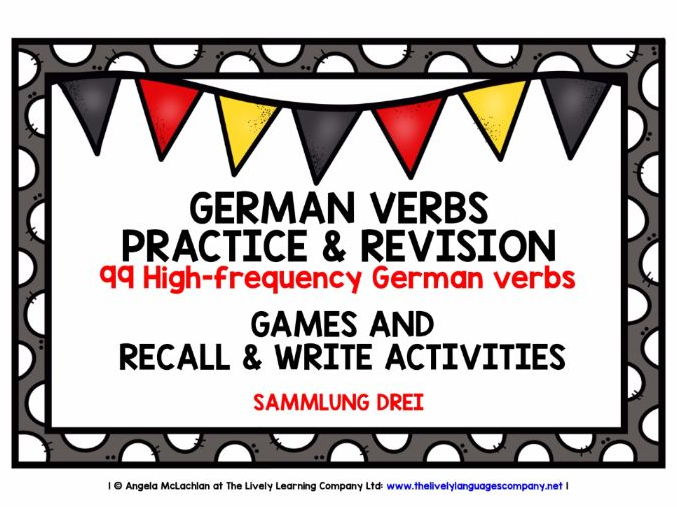 GERMAN VERBS (3) - 99 VERBS - GAMES & ACTIVITIES