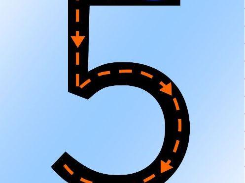SMART game 1-5 number recognition
