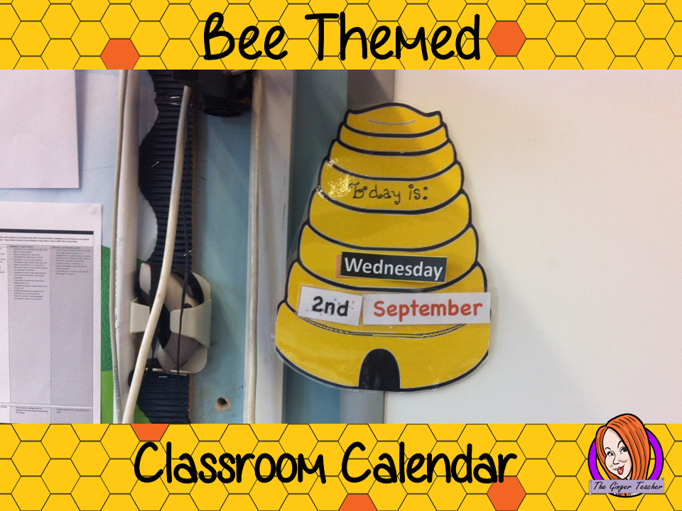 Back to School Cute 'Bee' Themed Classroom Calendar