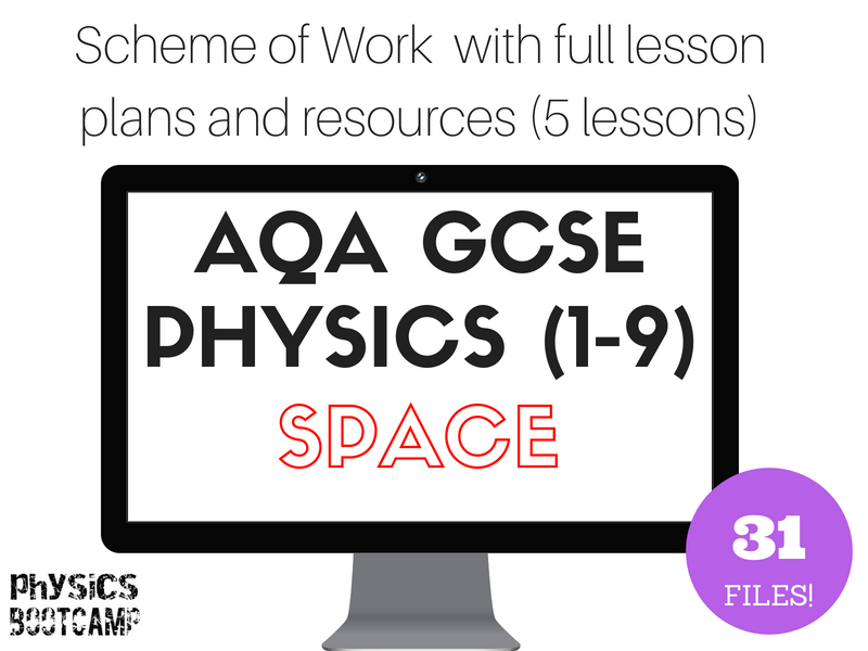 AQA GCSE Physics (1-9) SPACE Scheme of Work (full lesson plans and resources)