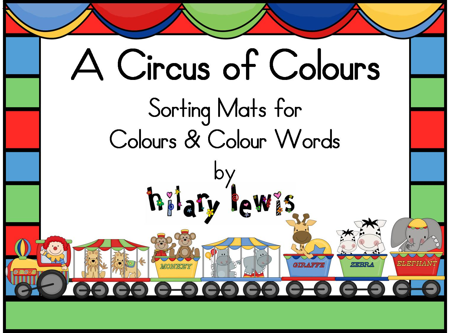 Colours and Colour Words - Sorting Mats