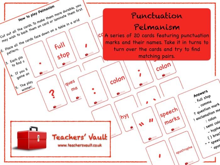 Punctuation Pelmanism Game