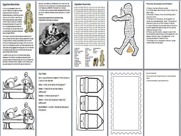 Egyptian Mummies Handout