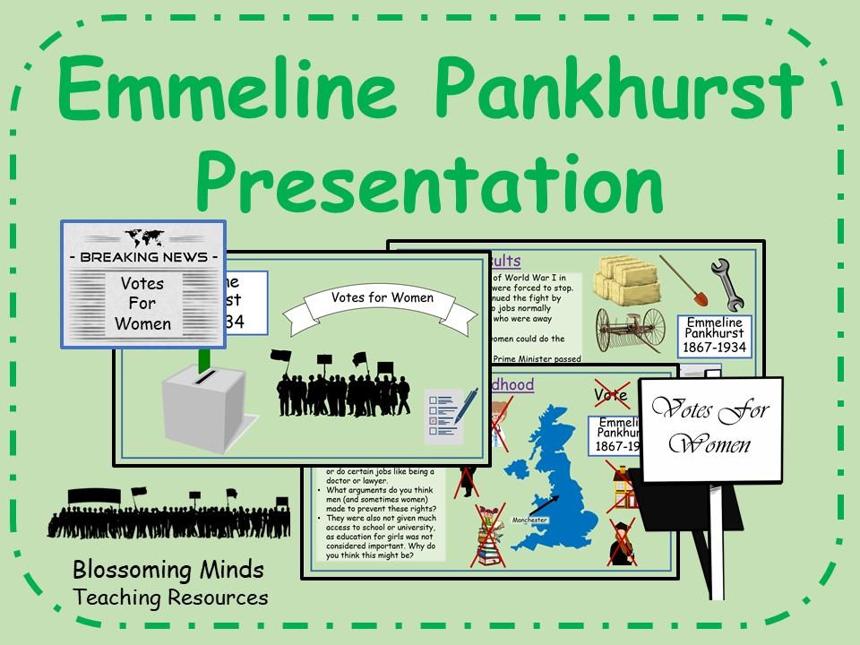 Emmeline Pankhurst Presentation - Suffragette