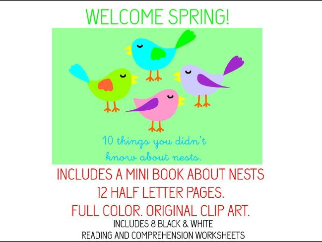 SPRING ACTIVITIES, BOOK AND WORKSHEETS
