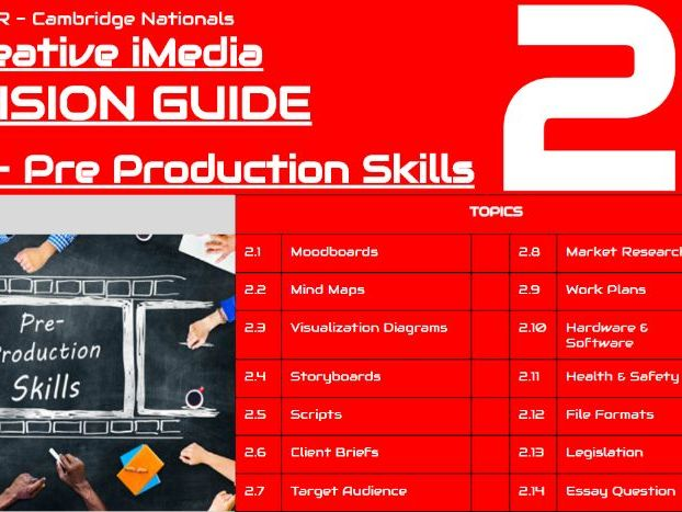 iMedia Revision: R081 Pre-Production Skills [2/3]