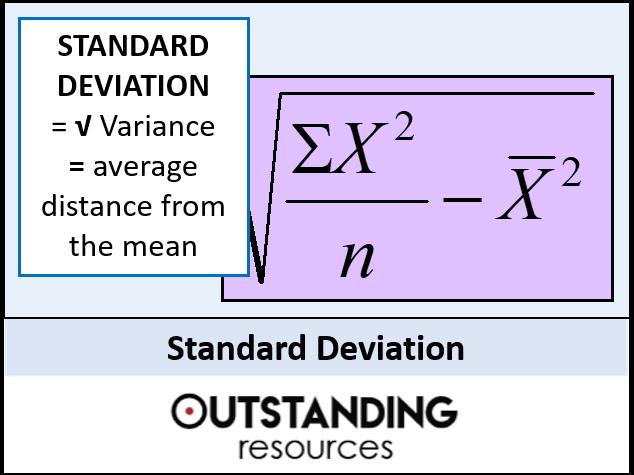 Standard Deviation and Variance (+ worksheets)