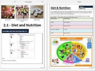 OCR A Level PE - Exercise Physiology ILT - Diet & Ergogenic Aids