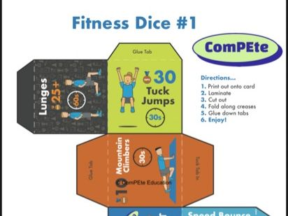 Fitness Workout Dice